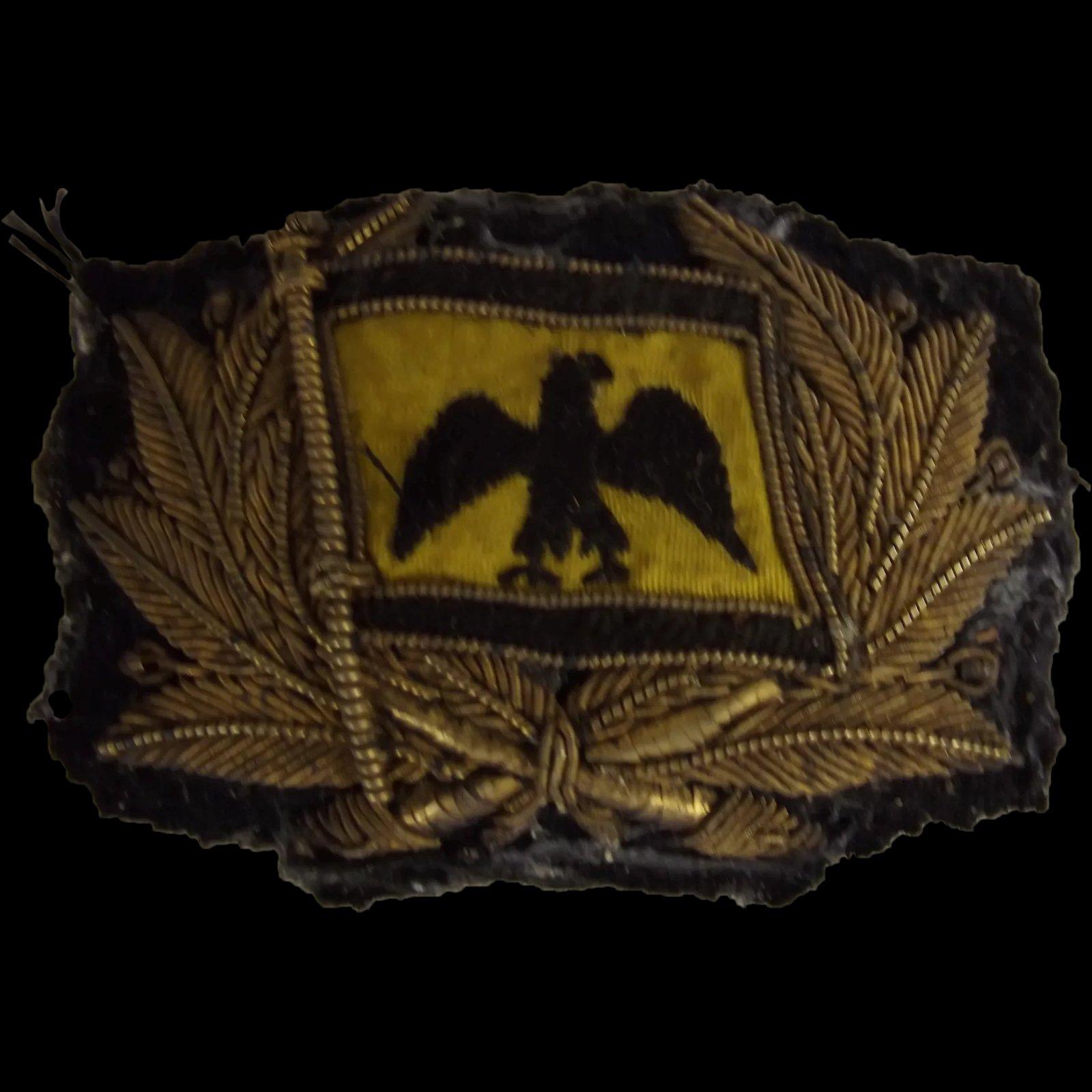 c1900 Prussian Bullion Cap Badge